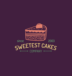 Vintage bakery logo cookie label sweet vector