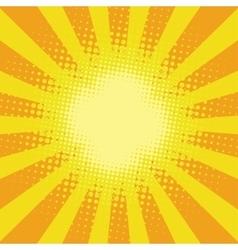 Yellow sunbeam rays vector image