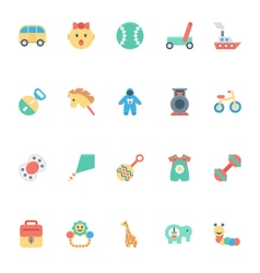 Baby and Kids Colored Icons 5 vector image