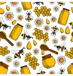 Sweet honey seamless pattern background vector