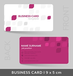 Business card template for your corporate or vector