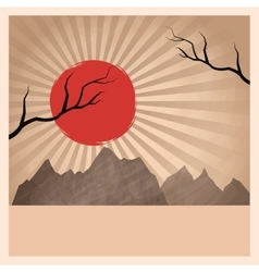 Japan landscape and vintage design vector image