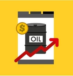 Oil prices petroleum industry vector