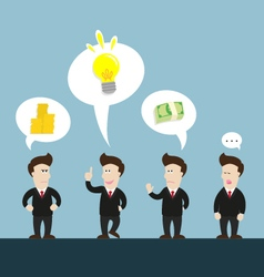 Businessman talk about new idea disagree vector