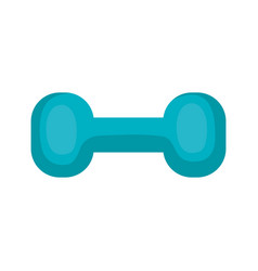 Weight lifting dumbell icon vector