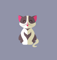 cute cat - flat design vector image