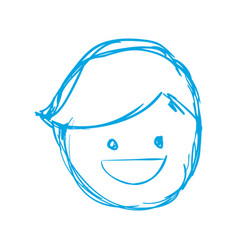 Silhouette happy man face with hairstyle vector