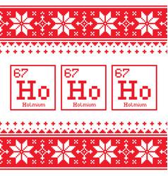 Geek christmas seamless pattern ho ho ho chemistr vector