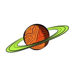 color sketch saturn vector image