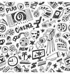 Cinema - seamless background vector
