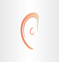 human ear stylized icon design vector image