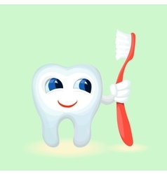 Children teeth care and hygiene cartoon flat vector