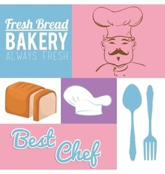 Always fresh bakery products vector