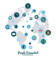 People connected design vector