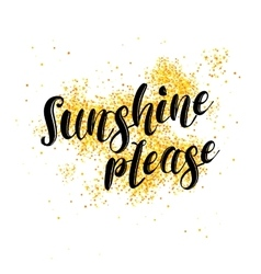 Sunshine please phrase over white background with vector