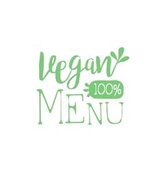 Vegan calligraphic cafe board vector