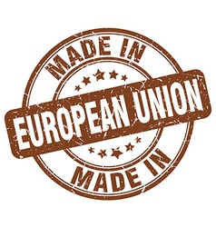 Made in european union vector