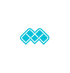 abstract letter m icon alphabet symbol vector image