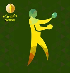 Brazil summer sport card with an yellow abstract t vector image