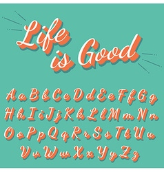 Calligraphy retro alphabet collection vector image vector image