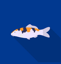 Carp-koi fish icon flat singe aquarium fish icon vector