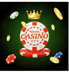 Casino chips sign vector