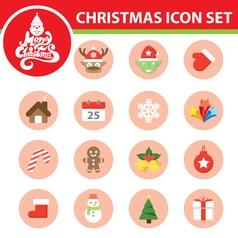 Christmas symbol icon set vector image vector image
