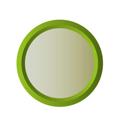 circle shape icon vector image