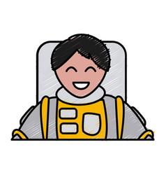 cute astronaut cartoon vector image vector image