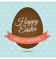 easter card egg vector image