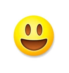 Emoticon laughing emoji smile symbol vector image vector image