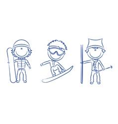 funny cute boys vector image vector image