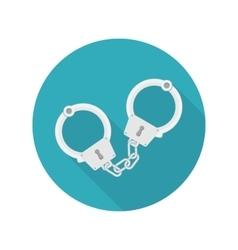Handcuffs icon vector
