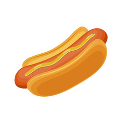 hotdog fast food for poster vector image vector image