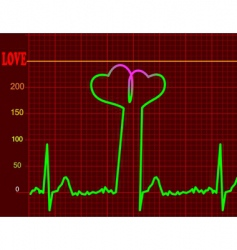 love-cardiology concept vector image vector image