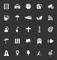Map sign icons on gray background vector image