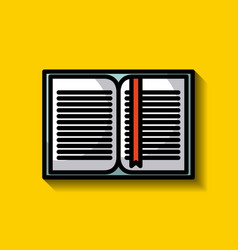 open book icon image vector image