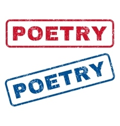 Poetry rubber stamps vector