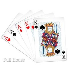 Poker cards full house vector