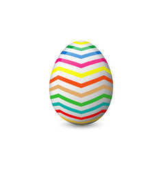 The painted easter egg vector