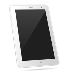 Tilted white tablet PC eps10 vector image vector image