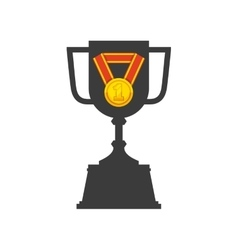 Trophy and medal icon vector