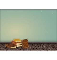 Vintage wallpaper background with wooden texture vector image