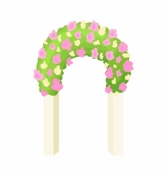 Wedding arch icon cartoon style vector image