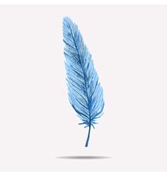 with watercolor feather vector image vector image