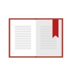 open book education vector image