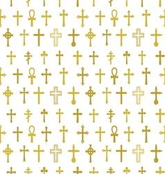 Cross seamless pattern2 vector image