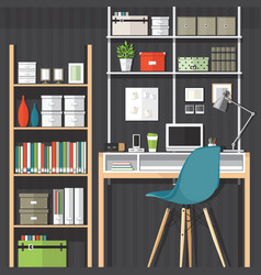 home office vector image