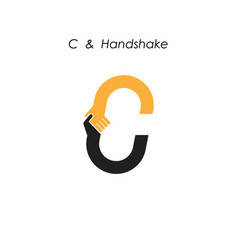 Creative c letter icon abstract logo design vector