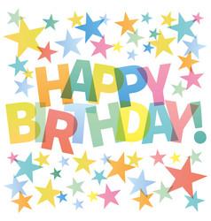 happy birthday card colorful vector image